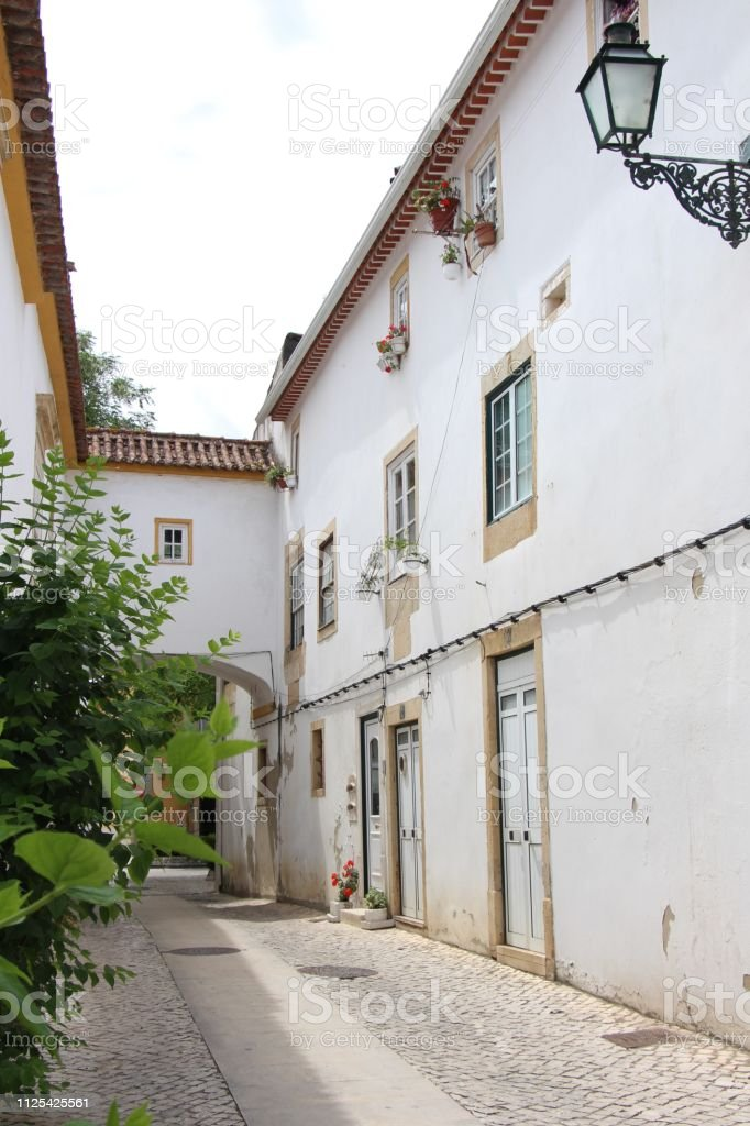 Portugal - tomar - vieille ville stock photo