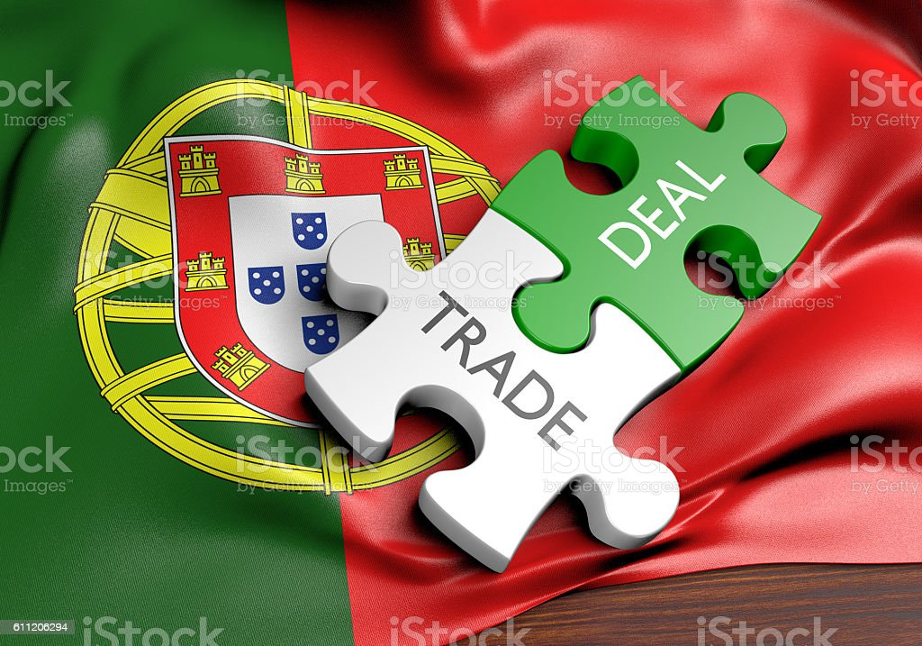 Portugal Trade Deals And International Commerce Concept 3d Rendering
