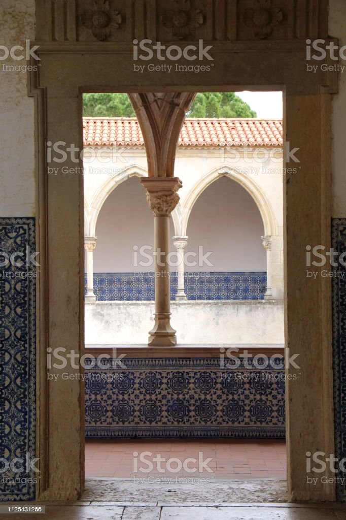 Portugal-Take-Convent of Christ (detail) stock photo