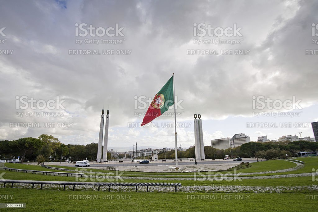 Portugese flag royalty-free stock photo