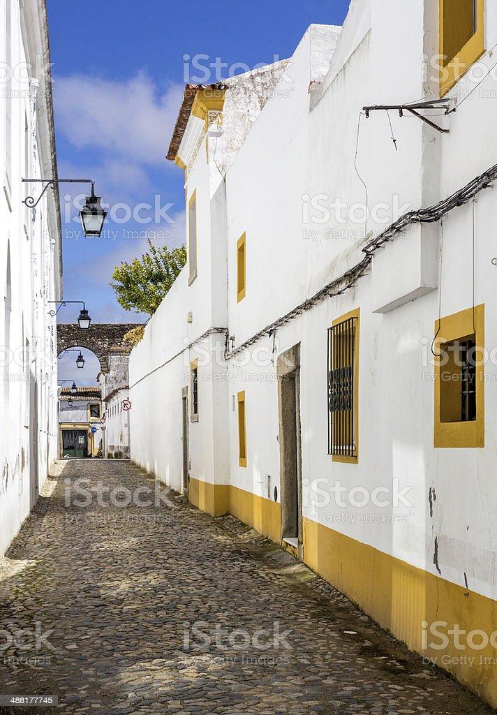 Portuguese Alentejo city of E‰vora old town. royalty-free stock photo