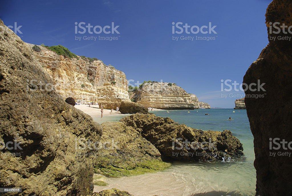 Portuguese Beach royalty free stockfoto