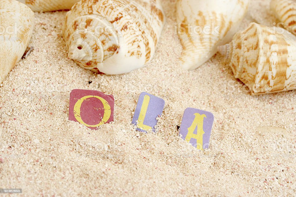 Portuguese beach royalty-free stock photo