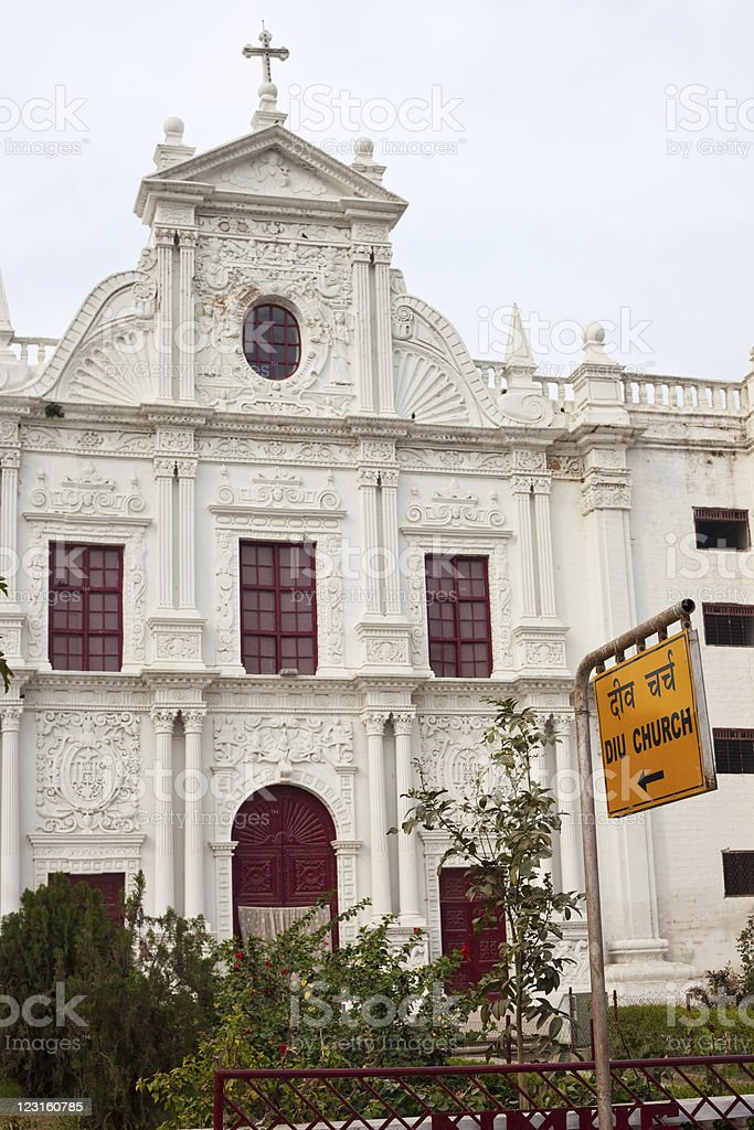 Portuguese Church On Diu, India royalty-free stock photo