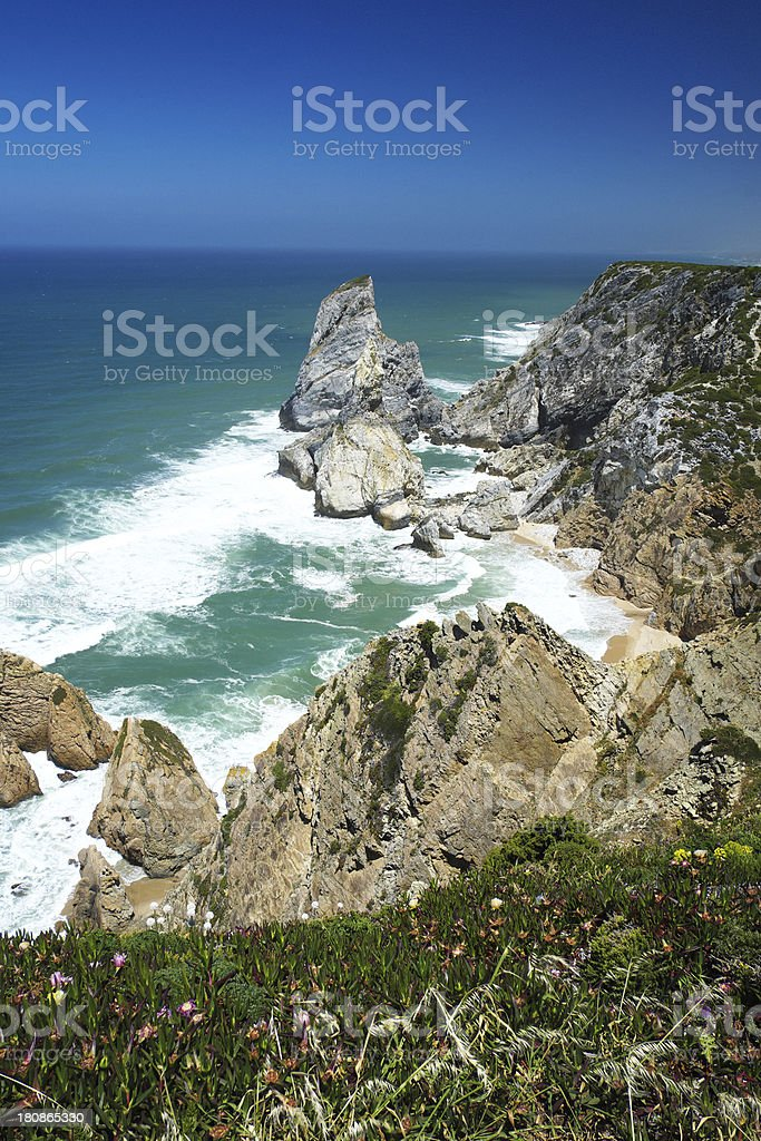 Portuguese Coast in Sintra royalty-free stock photo