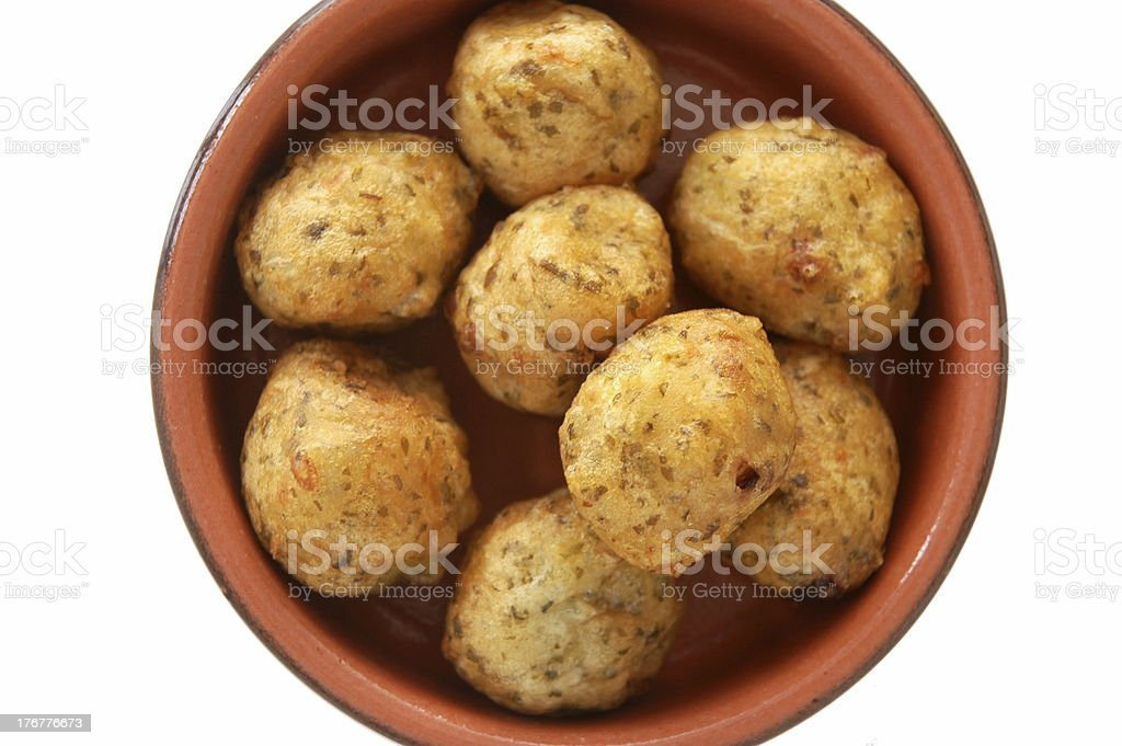 Portuguese cod fritters royalty-free stock photo
