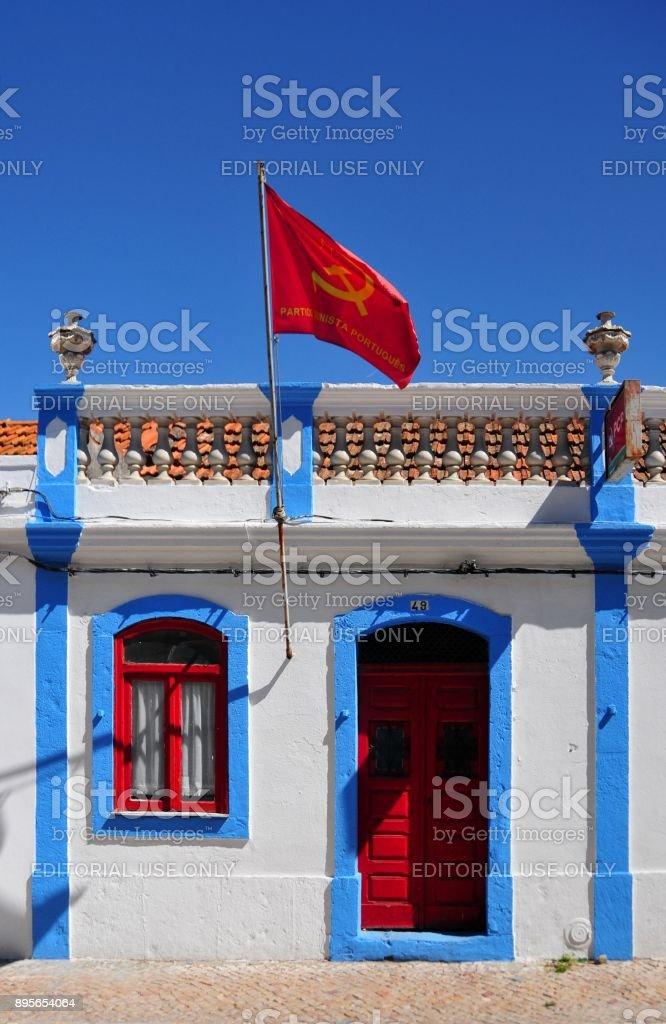 Portuguese Communist Party (PCP), Moita work center, Portugal stock photo