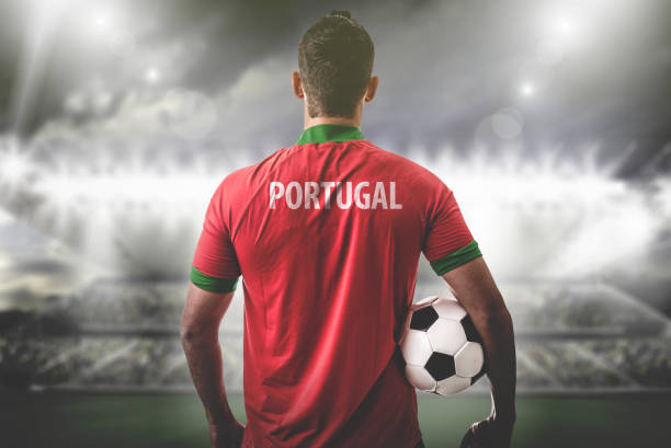 portuguese fan / sport player on uniform celebrating - sports championship stock photos and pictures