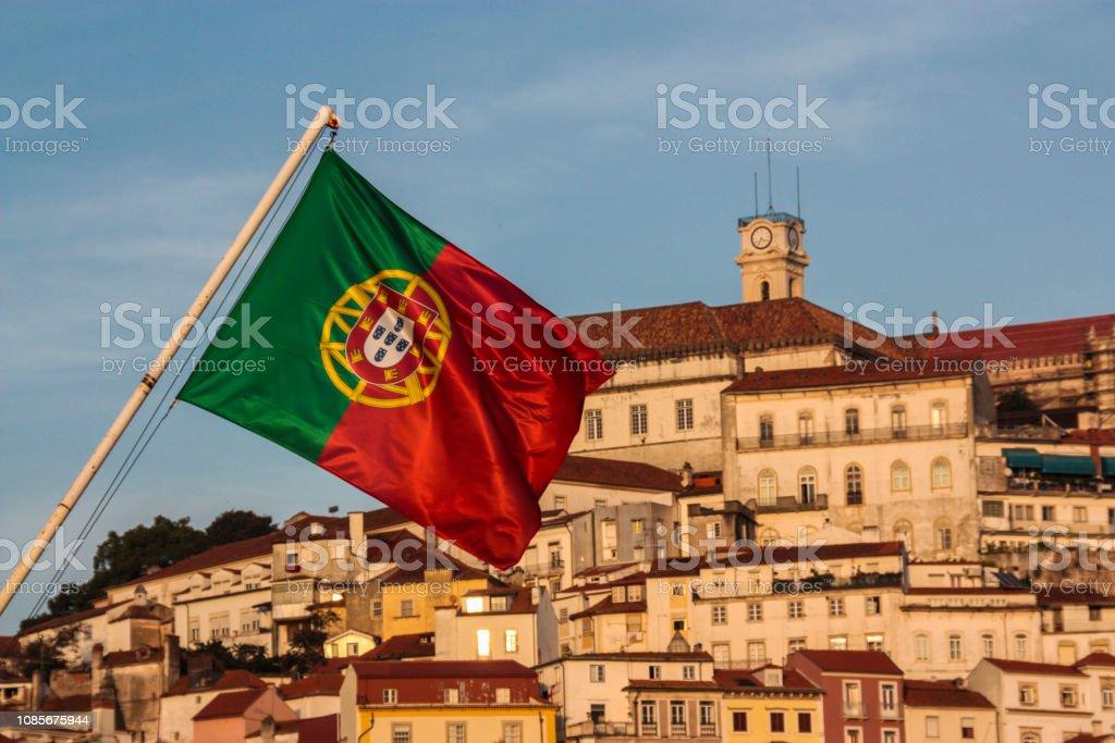 Portuguese Flag in Coimbra - fotografia de stock