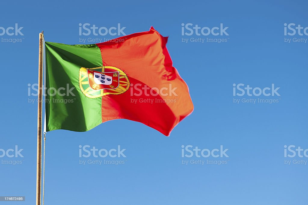 XL Portuguese flag stock photo