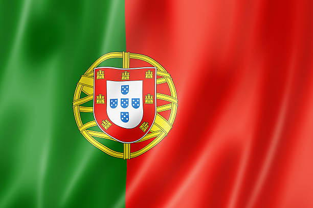 portuguese flag - portugal stock photos and pictures