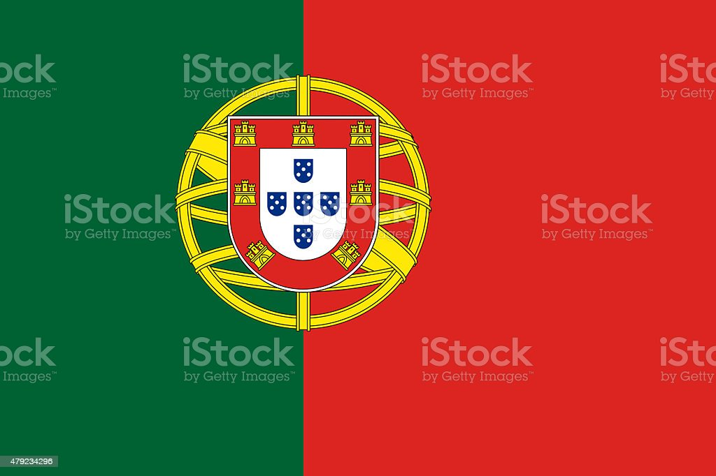 Portuguese Flag stock photo