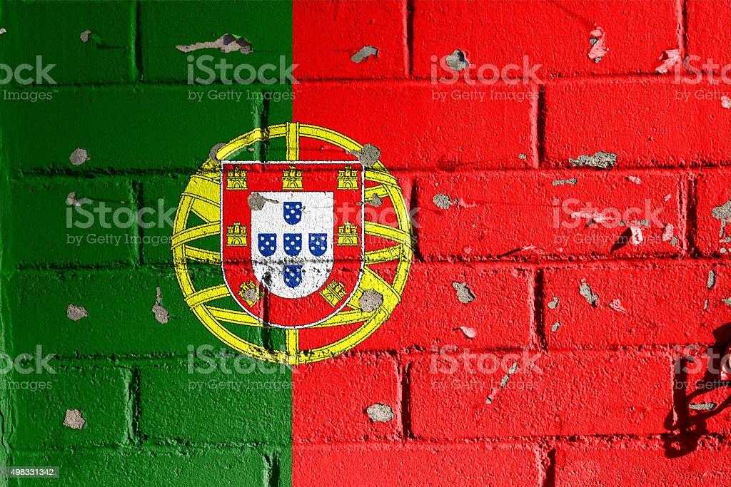 Portuguese flag. stock photo
