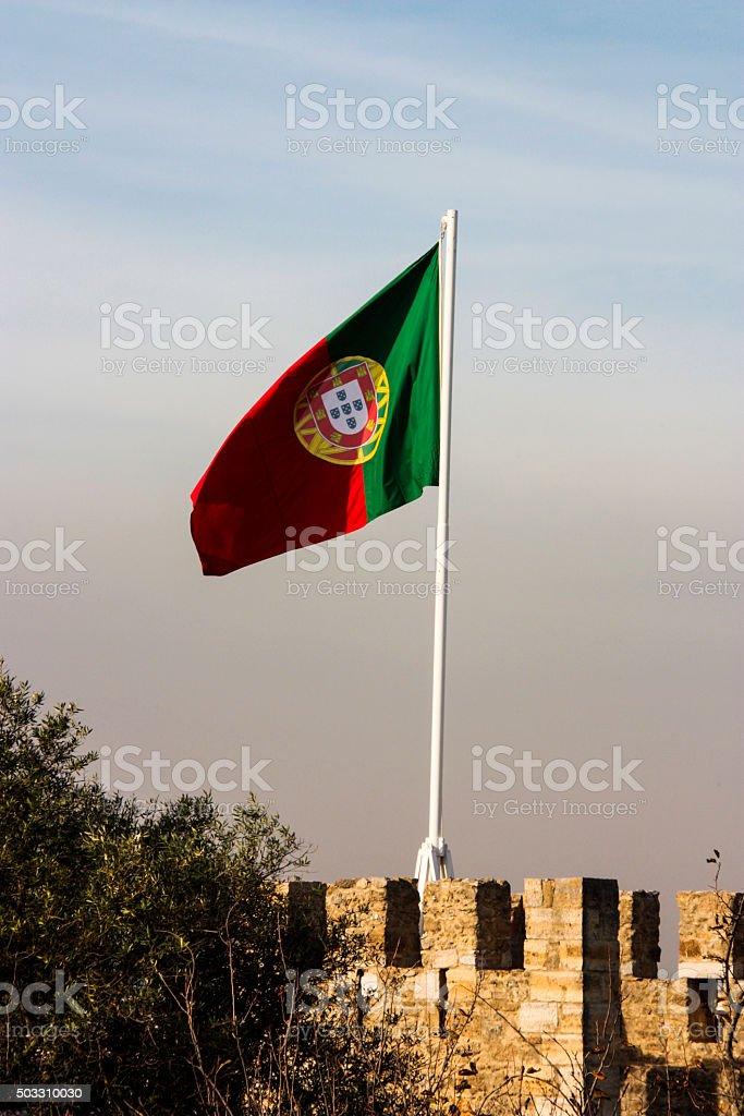 Portuguese Flag stock photo