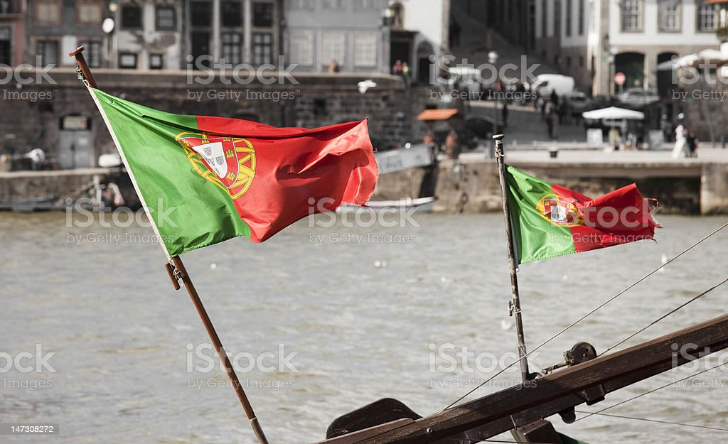 Portuguese Flags stock photo