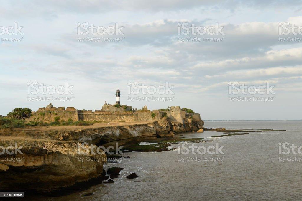 Portuguese fort in the Diu town in Gujarat stock photo
