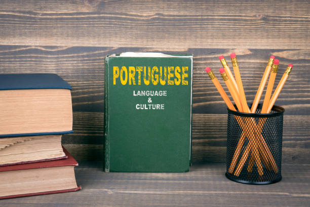 Portuguese language and culture concept stock photo