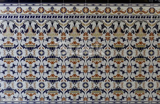 istock Portuguese old ceramic tiles, called Azulejo 946557082