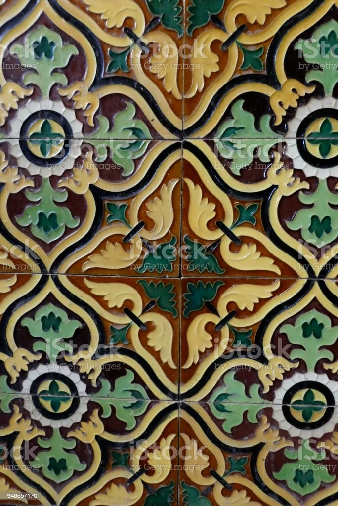 Portuguese Old Ceramic Tiles Called Azulejo Stock Photo More