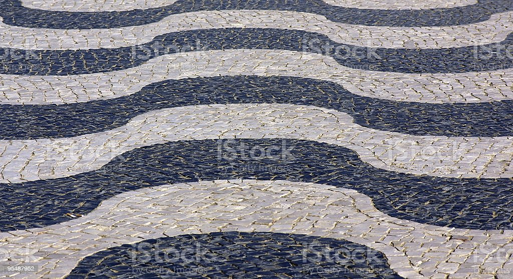 portuguese sidewalk. royalty-free stock photo