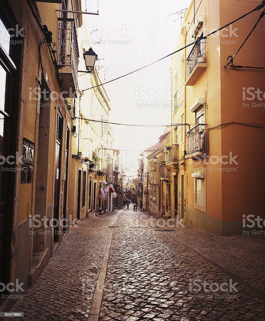 Portugiesische street Lizenzfreies stock-foto