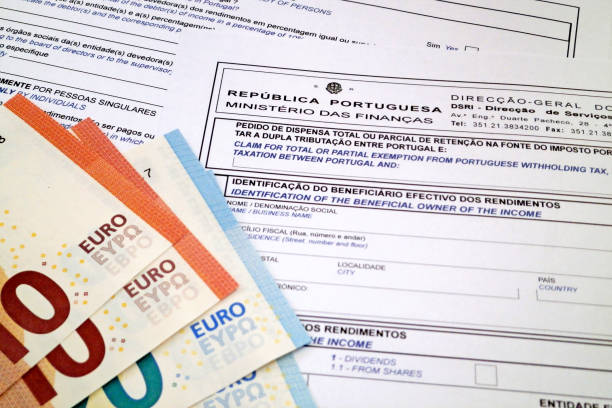 Portuguese tax form stock photo