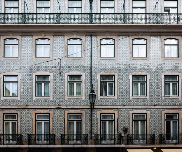 Portuguese Tile Windows In Lisbon Stock Photo