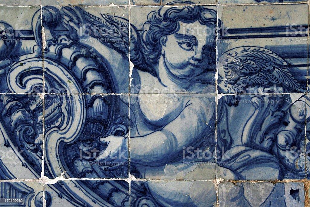 Portuguese tiles (azulejos) royalty-free stock photo