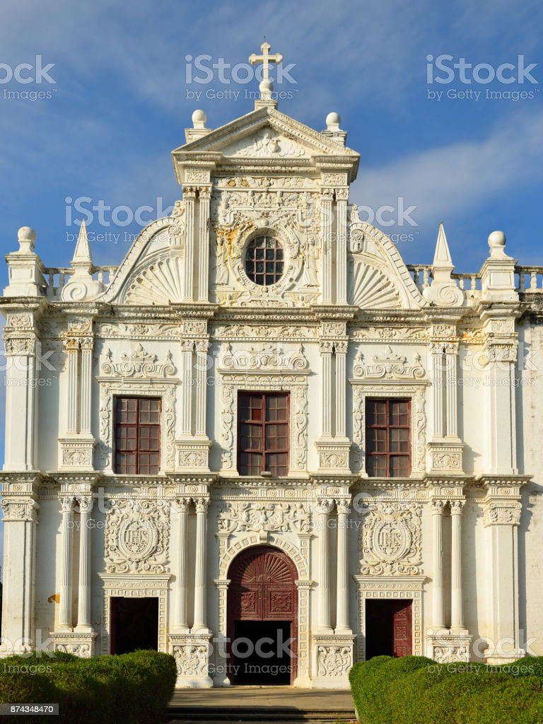 Portuguese town in Gujarat stock photo