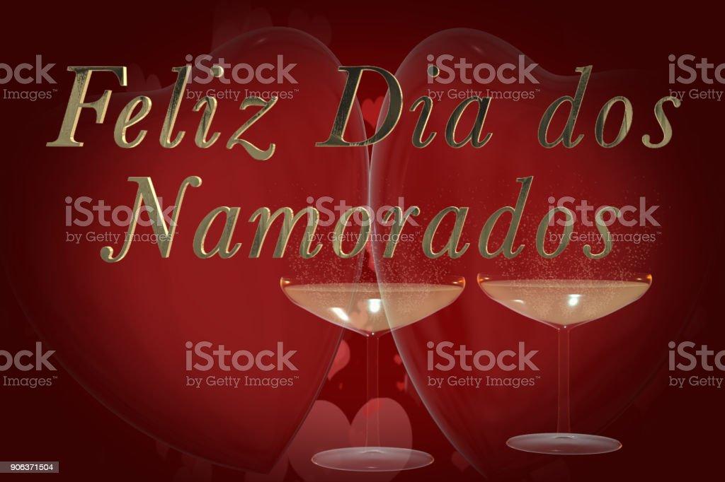 Frase De Día De San Valentín De Portugués Feliz Dia Dos
