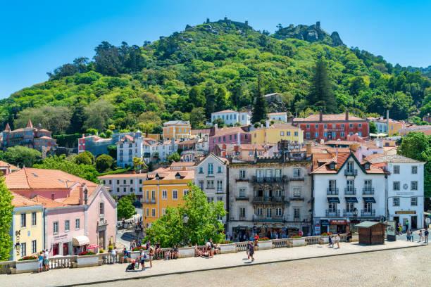 Portuguese village - Sintra stock photo