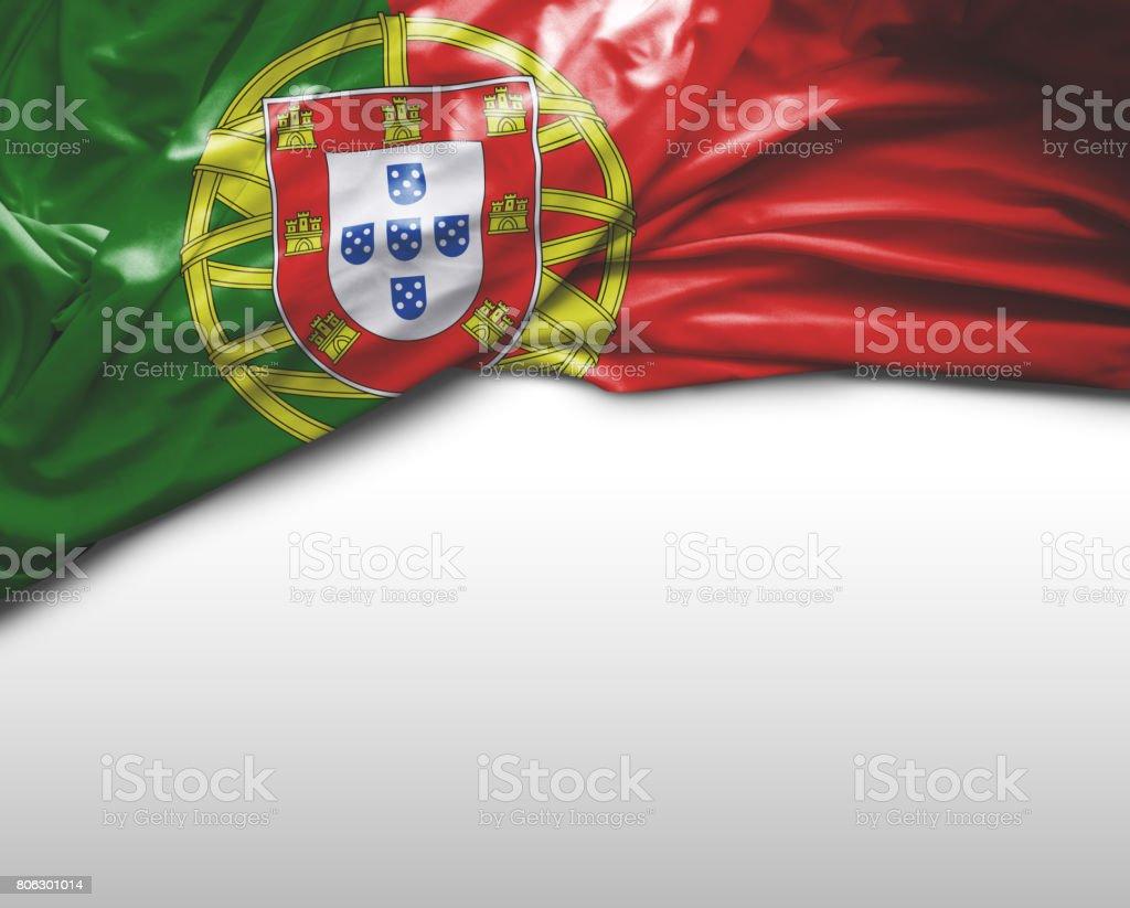 Bandera que agita Portugués - foto de stock
