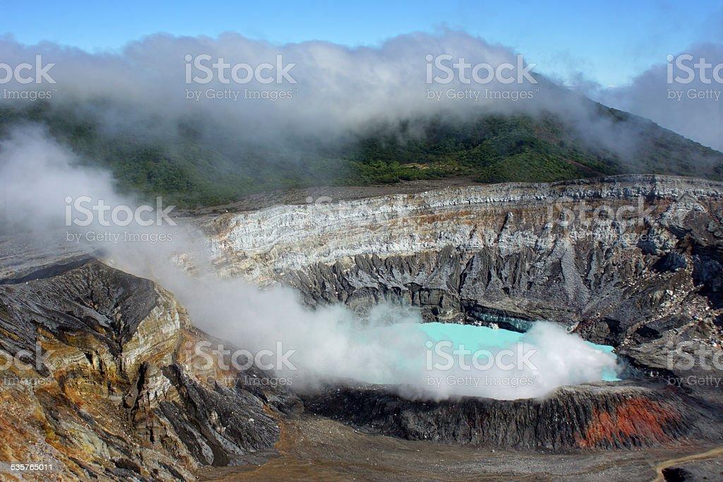 Poás Volcano stock photo