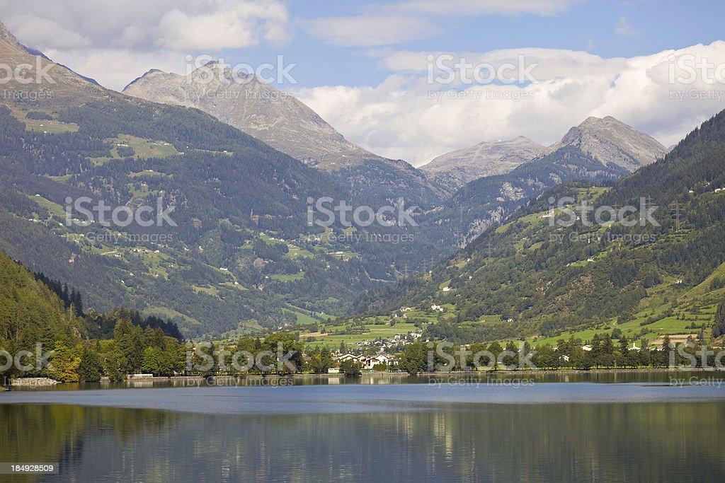 Poschiavo Lake, Grisons, Switzerland stock photo
