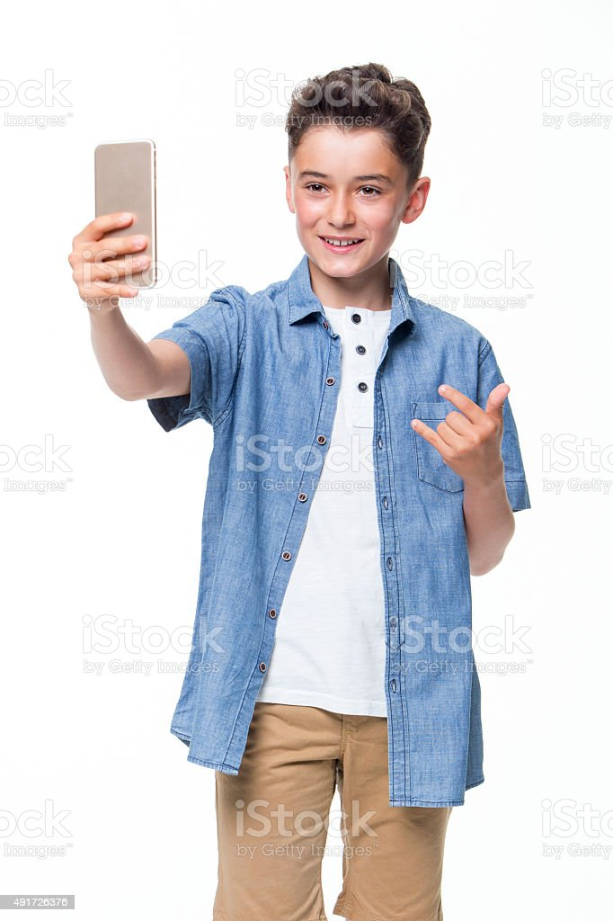 Pose for a Selfie stock photo