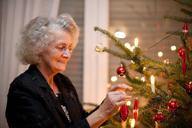 weihnachten-porträt - alte weihnachtsbäume stock-fotos und bilder
