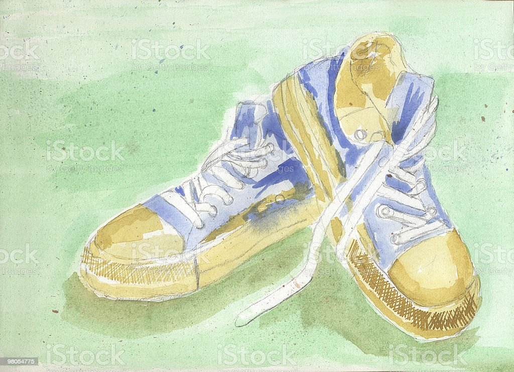 Posed Running Shoes royalty-free stock photo