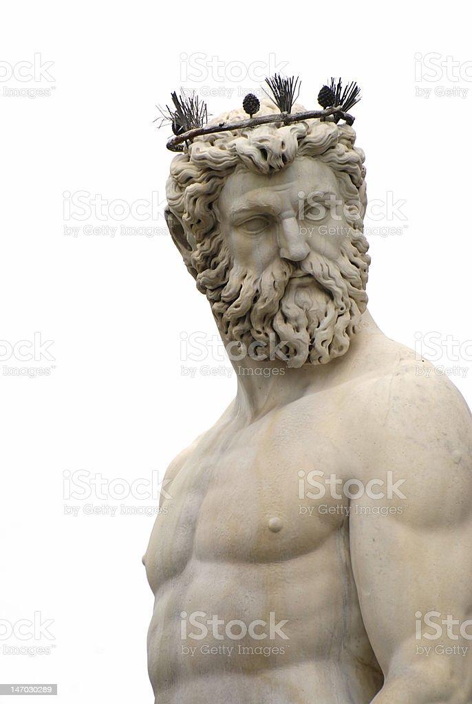 Poseidon statue royalty-free stock photo