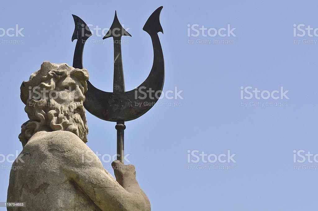 Poseidon with Triton from Atlantis stock photo
