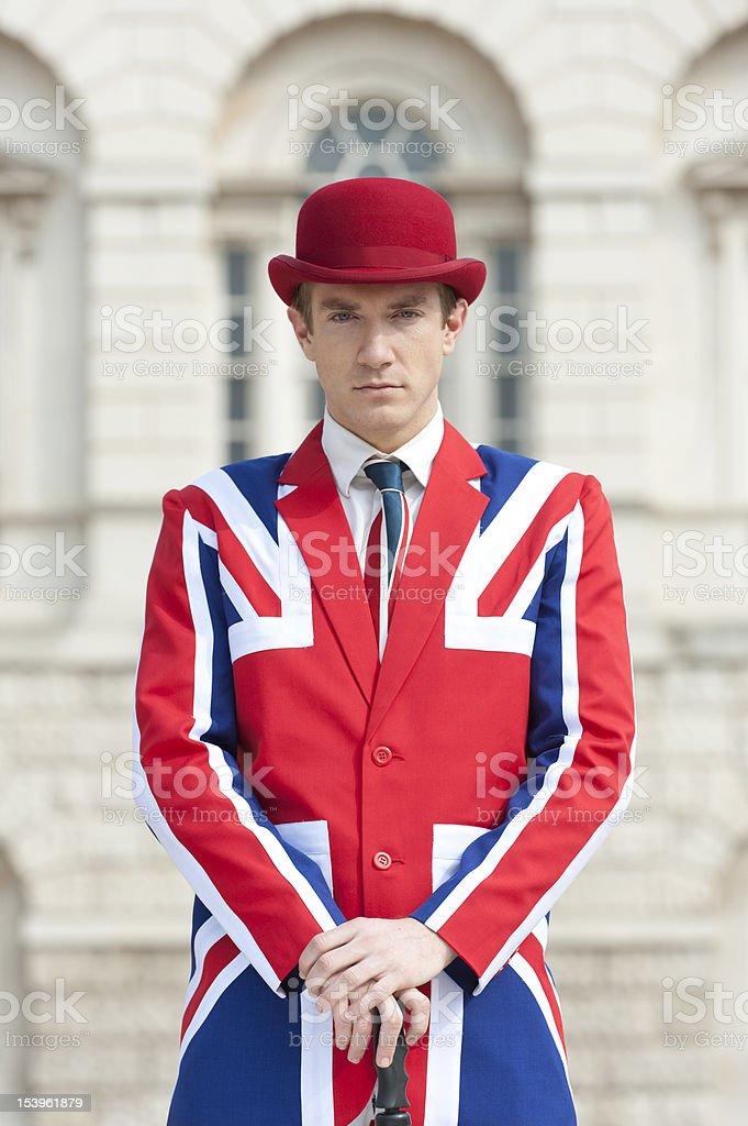 Posh British Man stock photo
