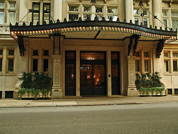 posh hotel front - entrance stock photos and pictures