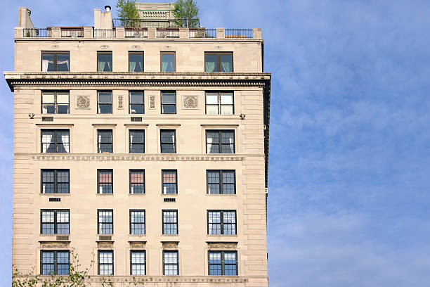 Posh Living Upper East side apartments with penthouse penthouse stock pictures, royalty-free photos & images