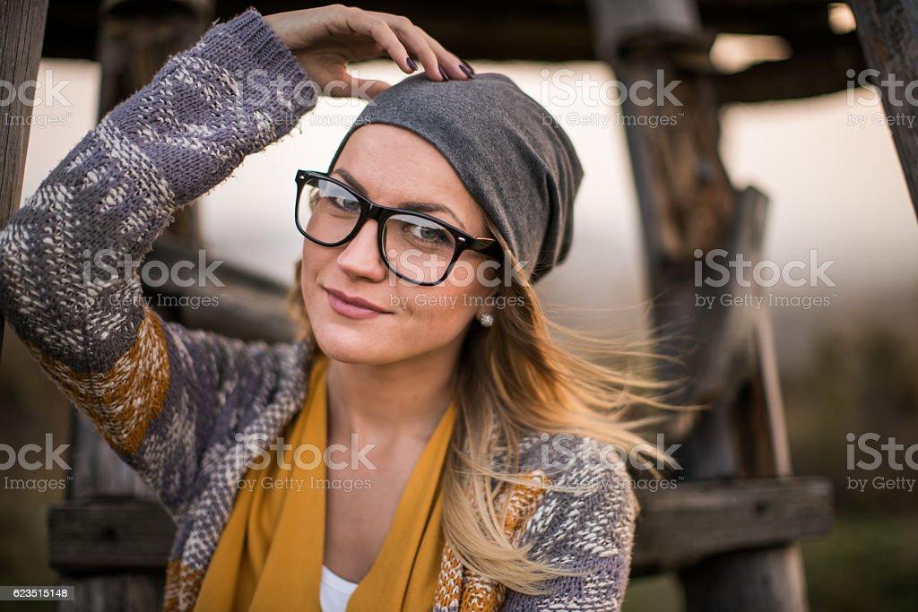 Posing and fashion stock photo