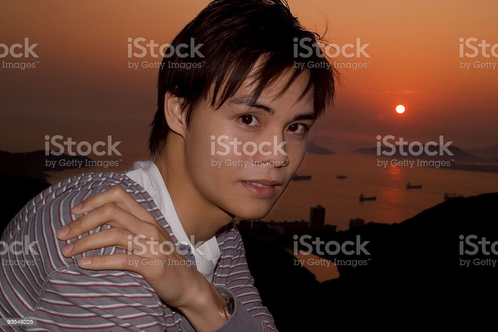 Posing At The Sunset royalty-free stock photo