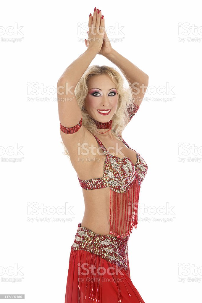 Posing bellydancer royalty-free stock photo