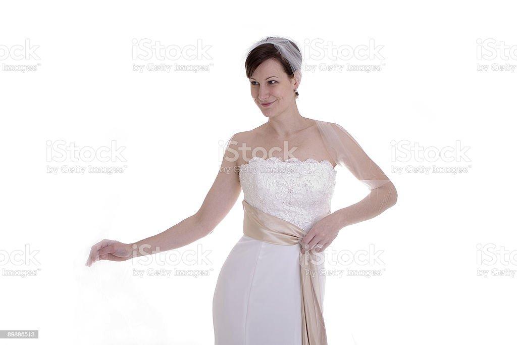 Posing Bride royalty-free stock photo