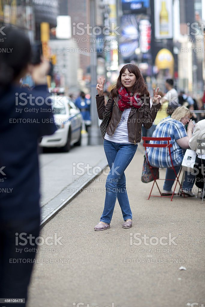 Posing for a photo royalty-free stock photo