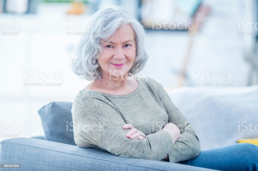 Posing On The Couch royalty-free stock photo