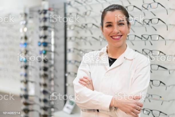 Posing optometrist woman in eyeglasses store smiling looking at picture id1014032214?b=1&k=6&m=1014032214&s=612x612&h=ajcobv27azvxdraco6mpnfhbrr9mjg9evbepeotr2 w=