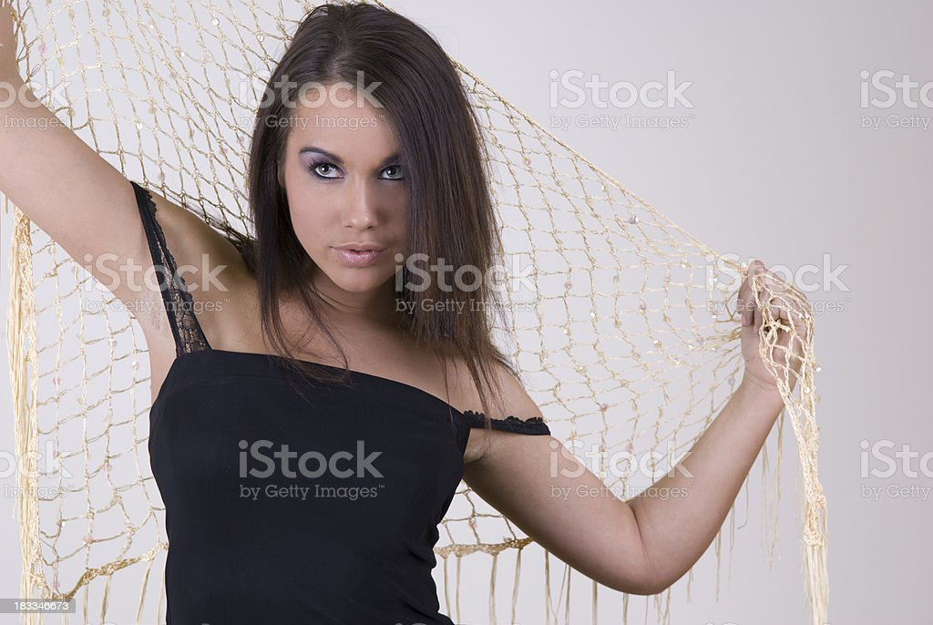 Posing With Scarf stock photo